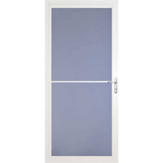 Larson Screenaway Lifestyle 36 In. W x 81 In. H x 1-3/8 In. Thick White Full View Aluminum Storm Door