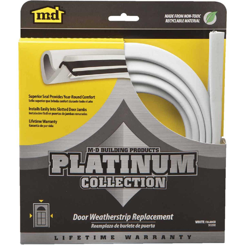 "M-D 84"" White Door Jambs Weatherstrip Replacement Image 1"