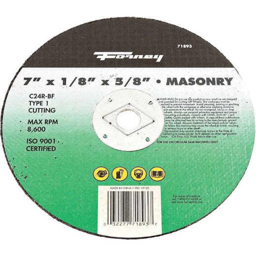 Forney Type 1 7 In. x 1/8 In. x 5/8 In. Masonry Cut-Off Wheel