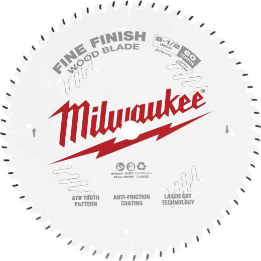 Milwaukee 8-1/2 In. 60-Tooth Fine Finish Circular Saw Blade