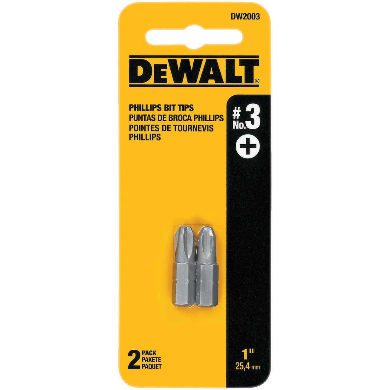 DeWalt Phillips #3 1 In. Insert Screwdriver Bit Image 1