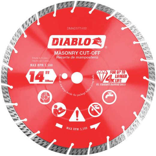 Diablo 14 In. Segmented Turbo Rim Dry/Wet Diamond Blade