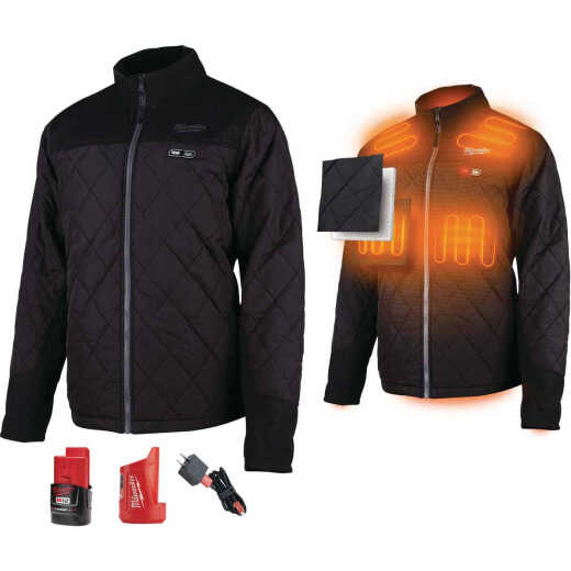 Milwaukee M12 XL Black Cordless Heated Axis Jacket